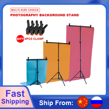 Professional Photography Photo Backdrop Stands T-Shape Background Frame Support System Stands With Clamps for Video Studio cheap SITOO Metal Other 68x75cm 80x200cm 150x200cm 200x200cm 200x260cm