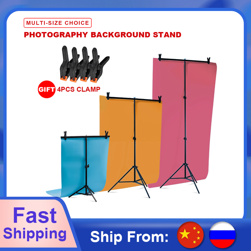 Professional Photography Photo Backdrop Stands T-Shape Background Frame Support System Stands With Clamps for Video Studio(China)