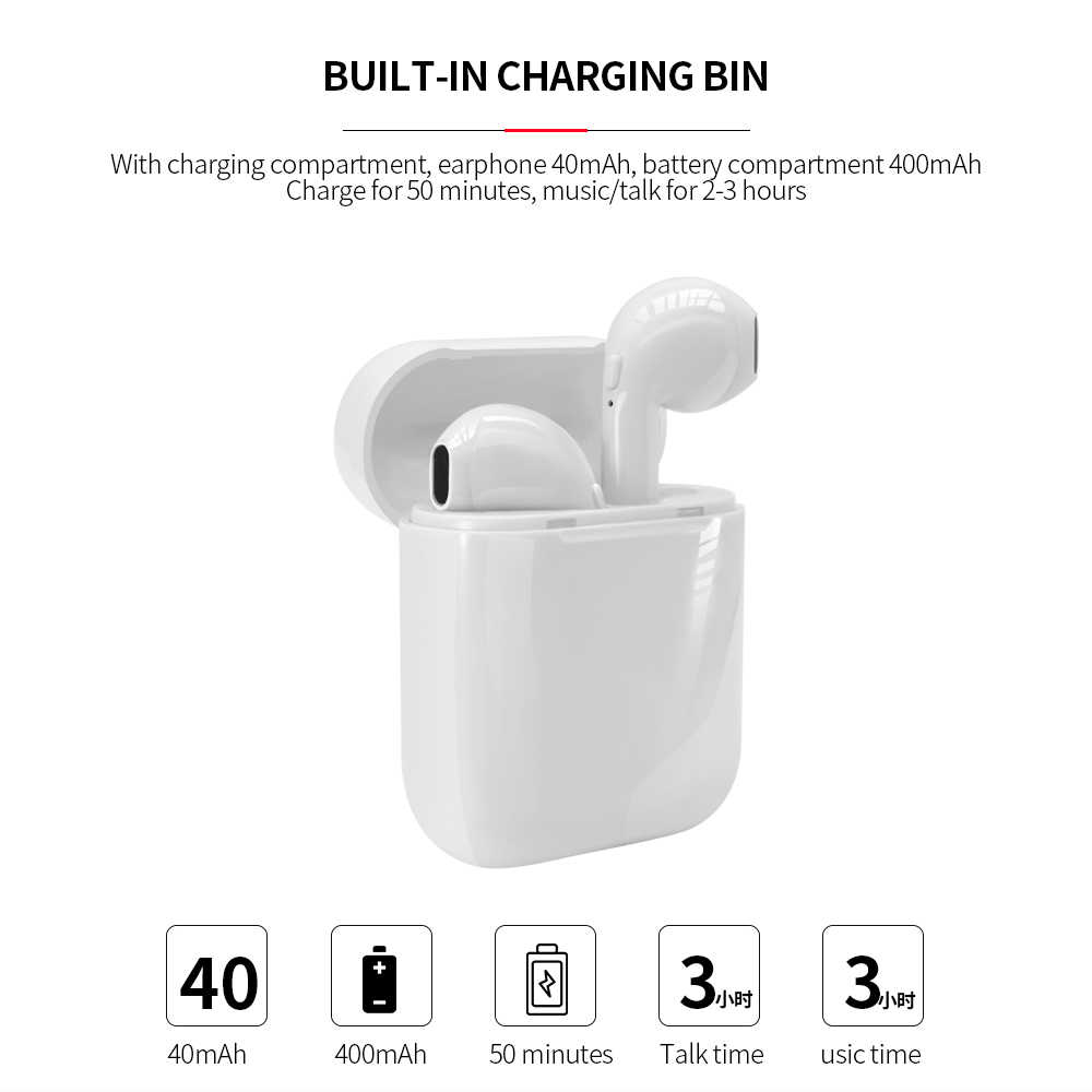 I7mini Bluetooth 5.0 Earphone Tws Wireless Headphone Blutooth Earphone Handsfree Headphone Earbud Headset Gaming Telepon