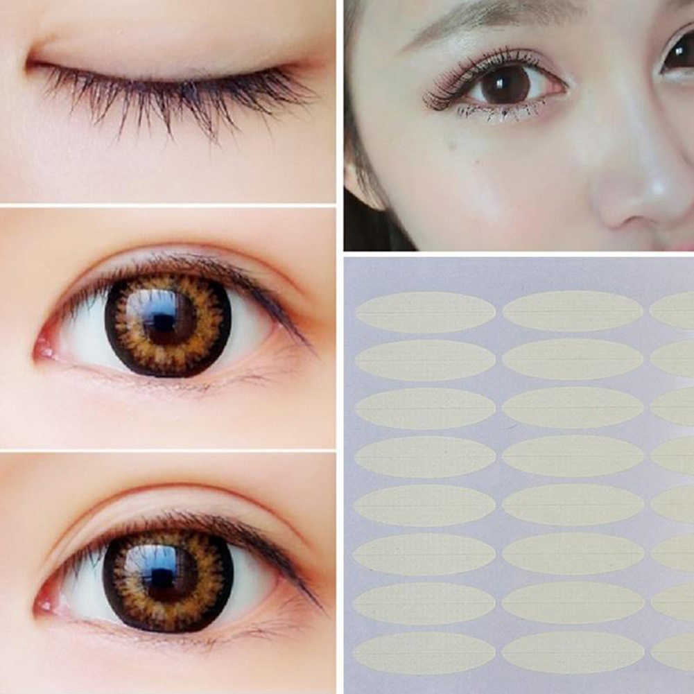 48Pcs Super-sticky Breed Smalle Dubbele Ooglid Sticker Tape Eye Beauty Make-Up Tool Duurzaam Gemakkelijk te Gebruiken Breed & smalle Ontwerp