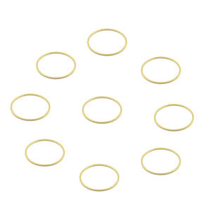 100 Pcs Brass Simple Circle Round Hoops Ring Link Connector for Earrings Necklace Making