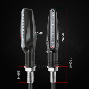 Image 5 - Universal LED Motorcycle Turn Signals Lightings Waterproof IP68 Tail Flasher Flowing Water Blinker Motorcycle Flashing Lights
