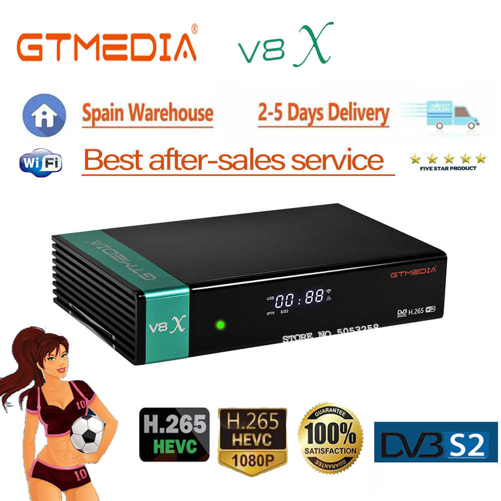 Recettore Satellite gtmedia V8X Aggiornato GTmedia V8 Nova Costruito in Wifi GTmedia V8 Honor DVB-s2 ricevitore satellitare migliori vendite