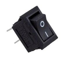 цена на 5 x AC 250V 3A 2 Pin ON/OFF I/O SPST Snap in Mini Boat Rocker Switch