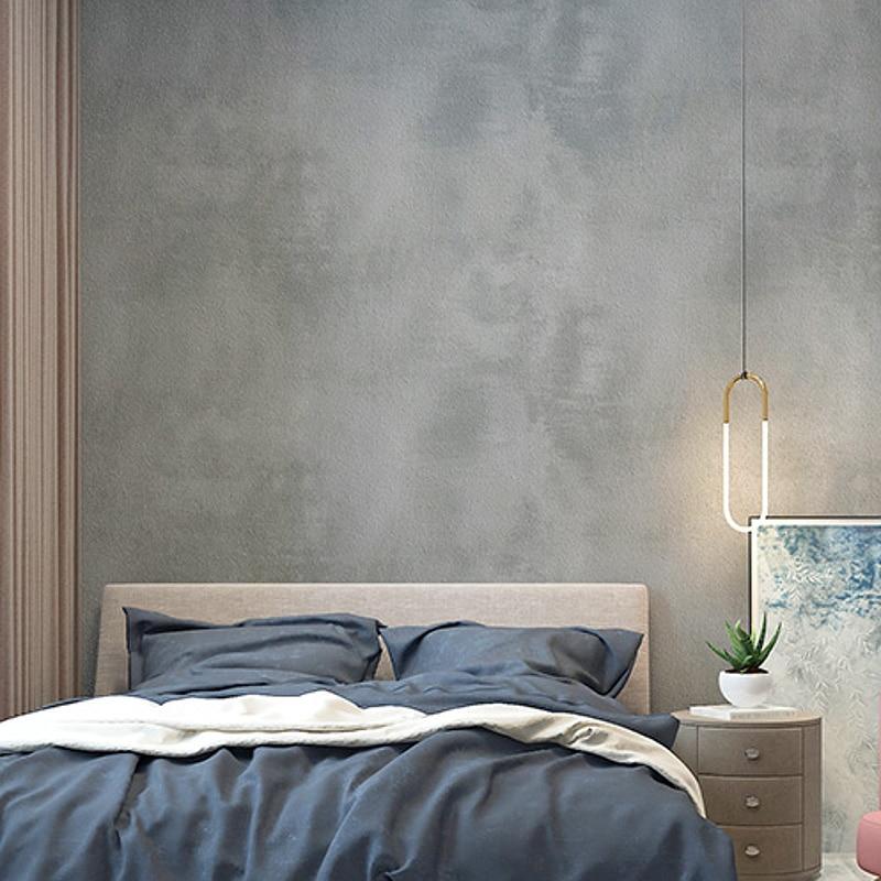 Image 2 - Ретро Обычная Серая цементная ПВХ настенная бумага для стен, спальни, гостиной, бара, кафе, ресторана, магазина, бетонная фоновая настенная бумага в рулоне-in Обои from Товары для дома