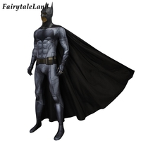 Batman Cosplay Costume Carnival Halloween Superhero Spandex Jumpsuit Bruce Wayne Outfit Helmet Justice League Costume