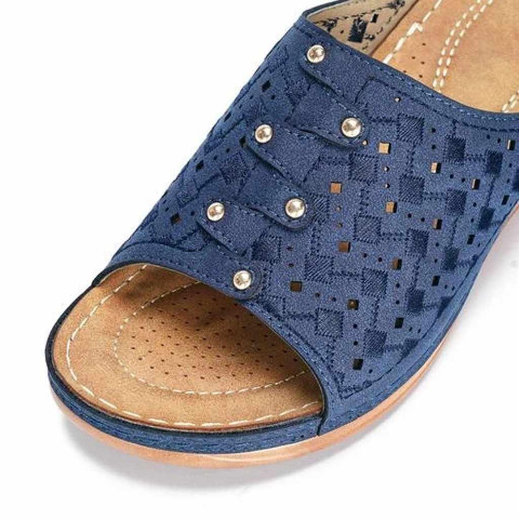 المرأة بو أحذية من الجلد مريح منصة مسطحة الوحيد السيدات عادية لينة كبيرة تو تصحيح القدم صندل العظام الورم مصحح