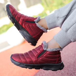 Image 4 - Bottines de neige imperméables unisexes pour hommes, chaussures chaudes en peluche, de qualité, à la mode, hiver espadrilles décontractées