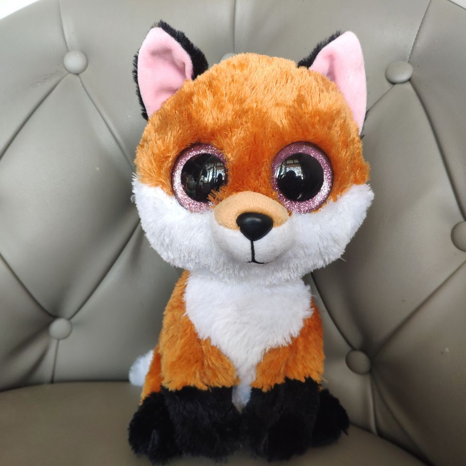 Slick BROWN Fox 25CM Big Eyes Plush Toys Stuffed Animals Christmas Gift Kids Soft Toys Thanks Giving Day Gift Nano Dolls