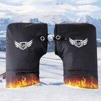 Wasserdichte Motorrad Roller Winter Handschuhe Quad Bike Lenker Hand Pelz Muffs Handschuhe Mitts Winter Wärmer