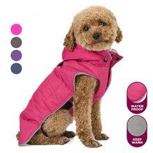 Теплая одежда для маленьких собак, зимнее водонепроницаемое пальто для собак, флисовый плащ с капюшоном для собак, Одежда для питомцев, жилет, светоотражающая куртка для щенка