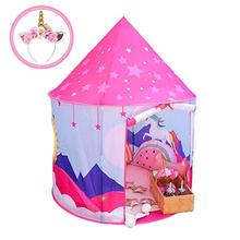 Wonder Space Princess Unicorn Play Tent, Fairy Unicorn Pop Up playhouse For Children, Girl's Indoor & Outdoor Dream Party Castle цена и фото