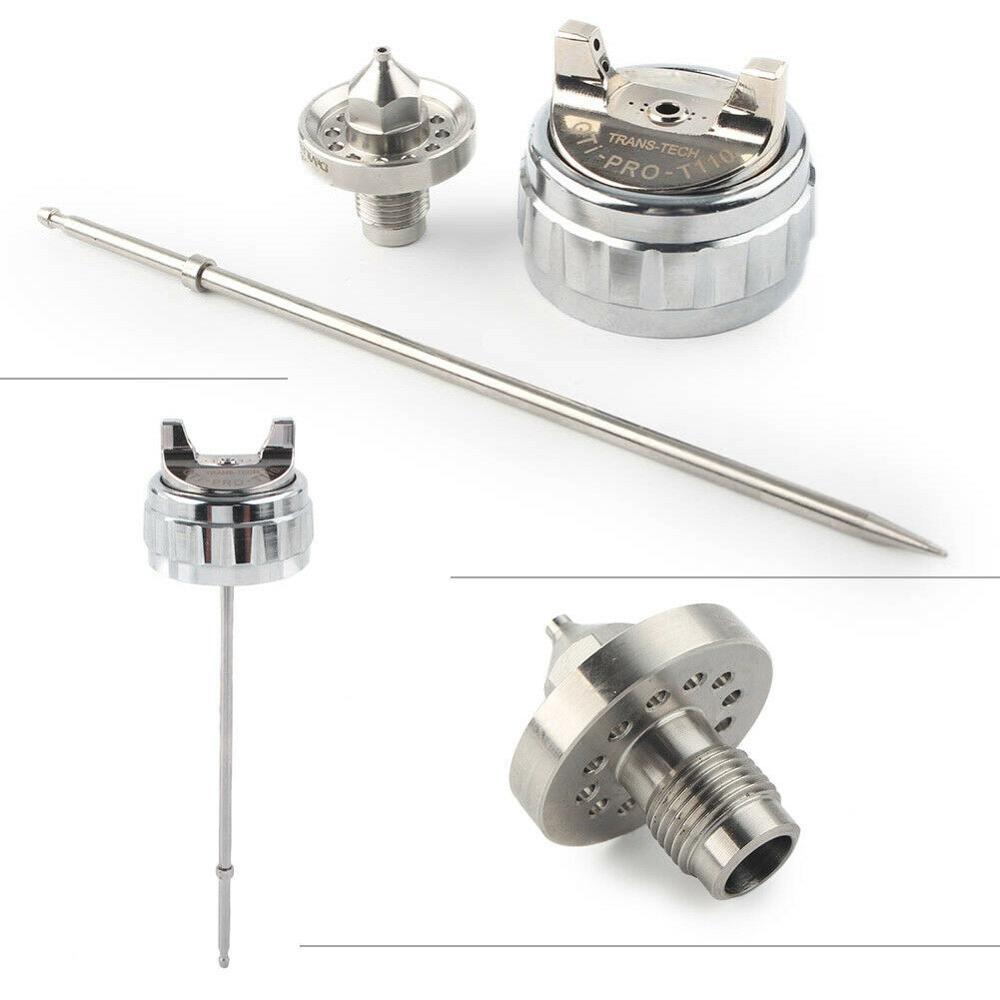 GTI Nozzle Kit 1.3mm Spray Gun Nozzle Kit Nozzle Needle And Nozzle Cap T110 / TE20 Nozzle Cap Air Spray Gun Repair Parts