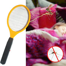 New 2019 Popular Operated Hand Racket Electric Mosquito Swatter Insect Home Garden Pest Bug Fly Mosquito Zapper Swatter Killer