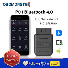 OBD2 ELM327 Bluetooth obd 2 Diagnostic tool scanner V1.5 Hardware Works Android/PC Mini elm 327 obd II code reader