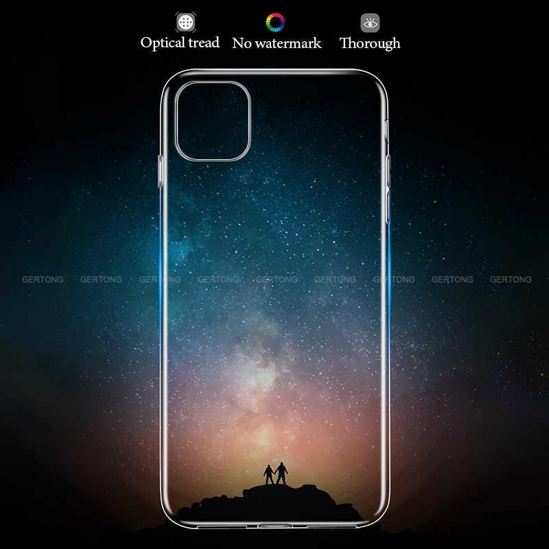 Funda de TPU suave transparente Ultra fina para iPhone X XR XS Max funda de silicona transparente iPhone 11 2019 11 Pro MAX Coque casos