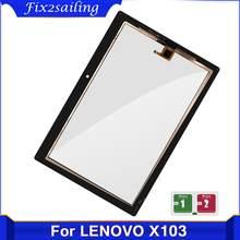Tela de toque 10.1 polegadas para lenovo tab 3, digitalizador touchscreen TB-X103F plus TB-X103