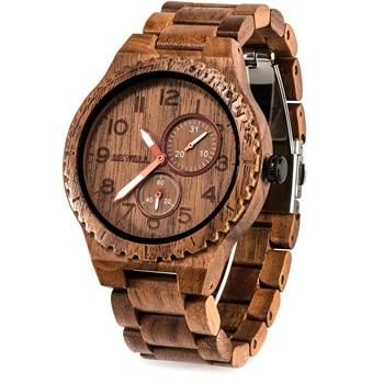 BEWELL Wooden Watch Men Quartz Date Casual Retro reloj hombre Lightweight Luminous Wood Watches for Men Relogio Masculino W154A eco friendly green sandal wood watches mens quartz wooden watch with date