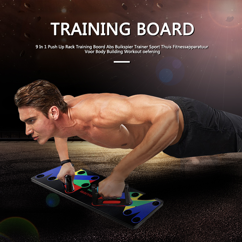 Push Up Rack Board 9 In 1 Body Training Building Workout Exercise Men Women Push-up Comprehensive Gym Equipment