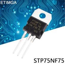 10PCS LOT STP75NF75 TO-220 P75NF75 TO220 75NF75 new MOS FET transistor tanie tanio CN (pochodzenie) Nowy Tranzystor polowy Przez otwór