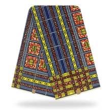 Нигерийская восковая ткань с принтом африканская 6 ярдов Анкары
