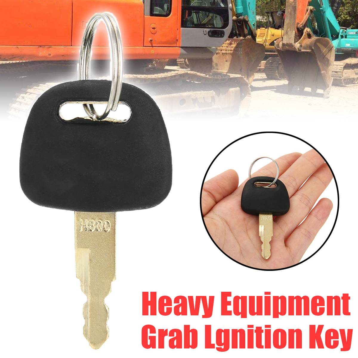 1pc Durable ZAX Key Newest Style Heavy Equipment Grab Lgnition Key For Hitachi H800 ZAX Excavator Excavator Accessories
