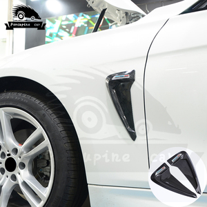 Image 3 - כריש זימי צד פנדר Vent קישוט 3D מדבקות עבור BMW E46 F30 E90 E60 F20 F10 E36 E39 E87 E70 g30 ביצועים רכב סטיילינג
