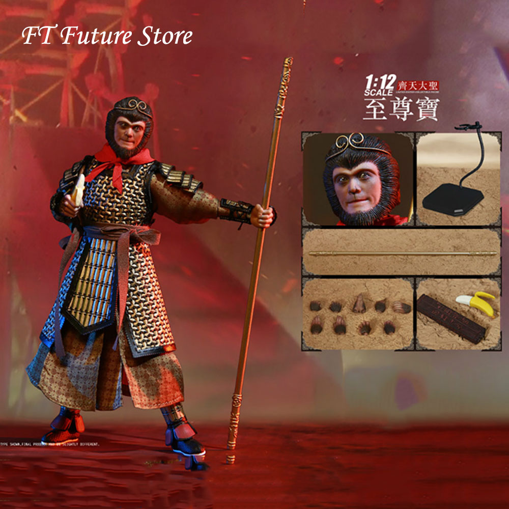 1//12 Monkey King  Action Figure With Accessories Model Toy For Collection New