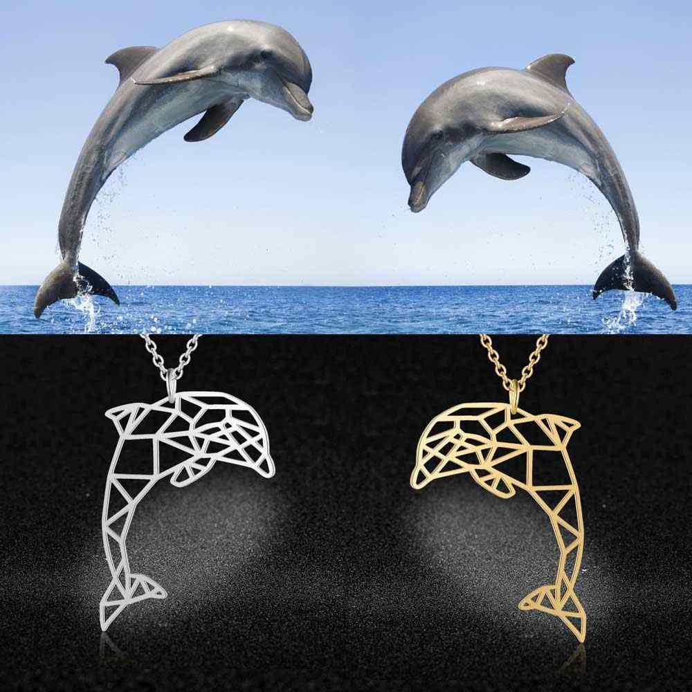 สัตว์ที่ไม่ซ้ำกันเครื่องประดับสร้อยคอผู้หญิง 100% แฟชั่นสแตนเลสปลาวาฬหางปลาเต่าจี้สร้อยคอของขวัญพิเศษ