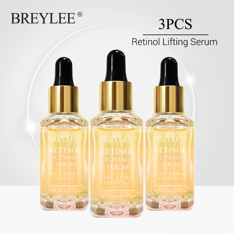 BREYLEE Retinol Firming Serum Lifting Facial Collagen Essence Anti Remove Wrinkle Anti Aging Face Skin Care Fade Fine Lines 3PCS
