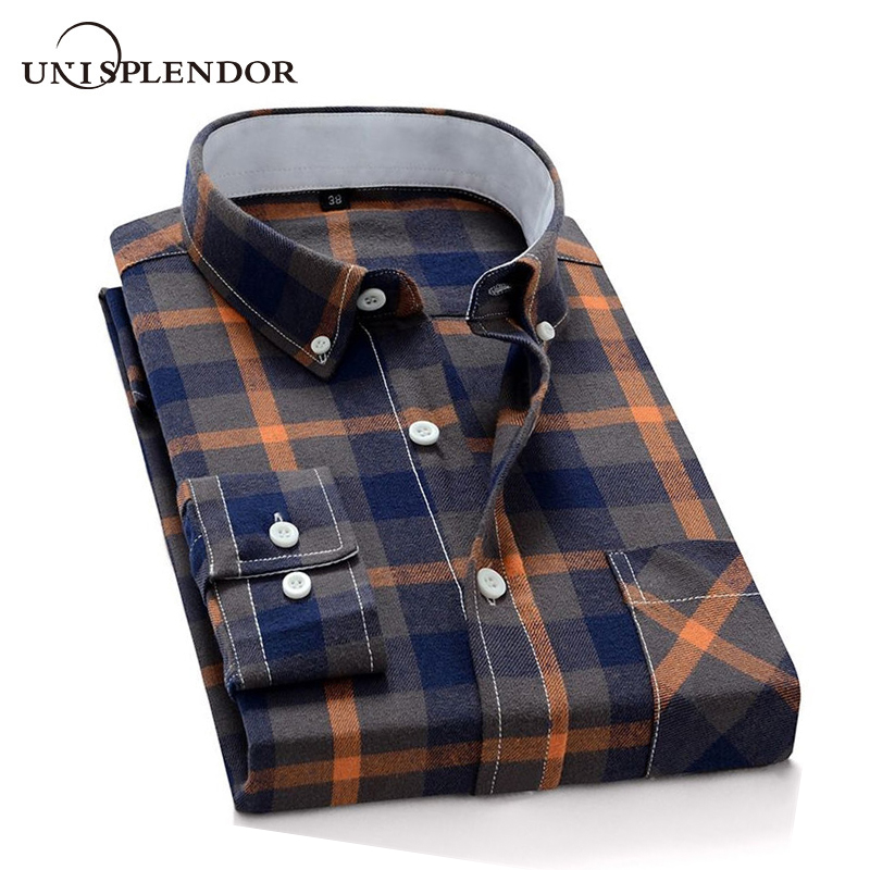 2019 Plaid Men Shirts Long Sleeve Casual Men's Shirt 100%Cotton Streetwear Homme Boy Shirt New Autumn Spring Man Shirt YN10546