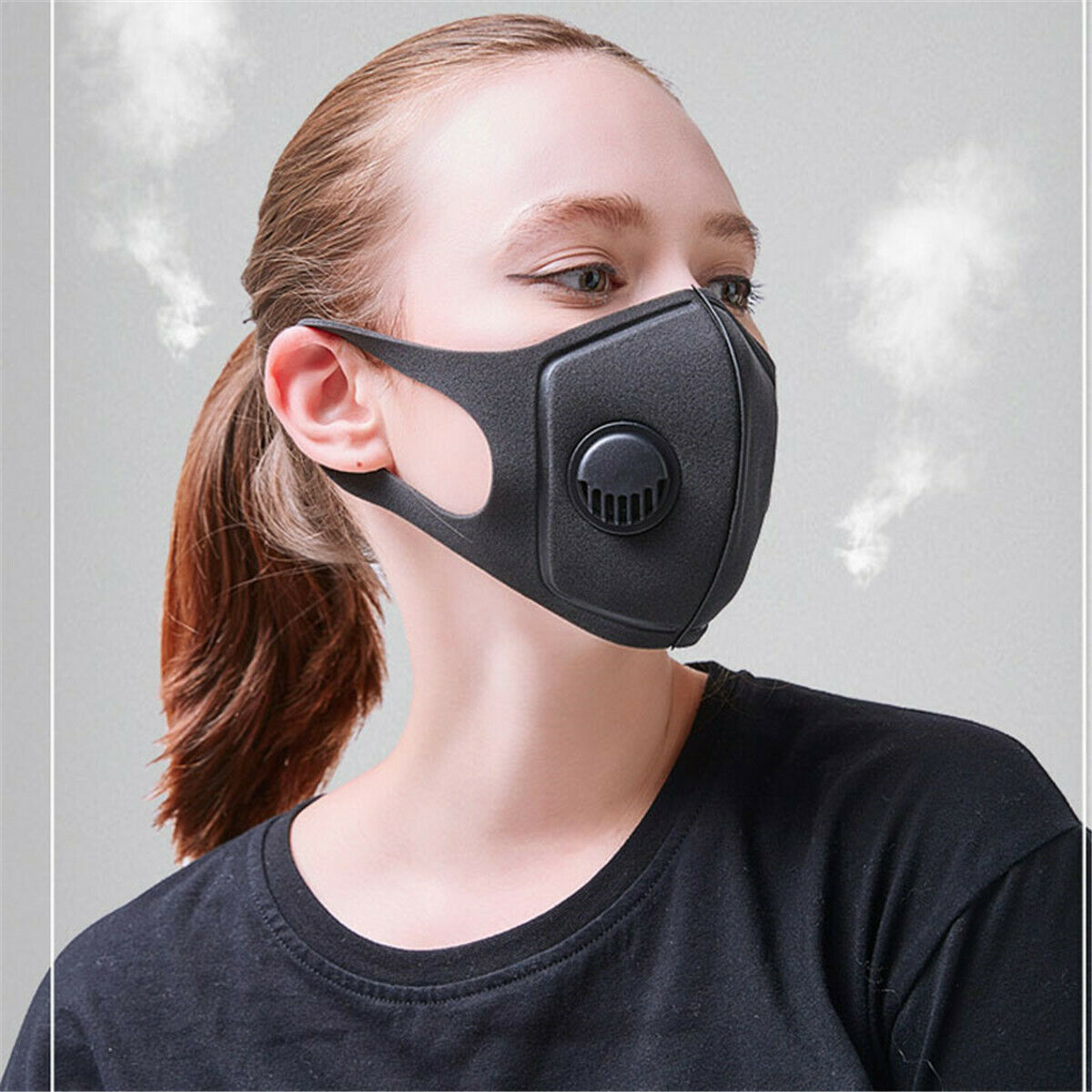 Thicken Respiratory Dust Mouth Mask Upgraded Version Men Women Anti-fog Haze Dust Pollen 3D Cropped Breathable Valve Mask