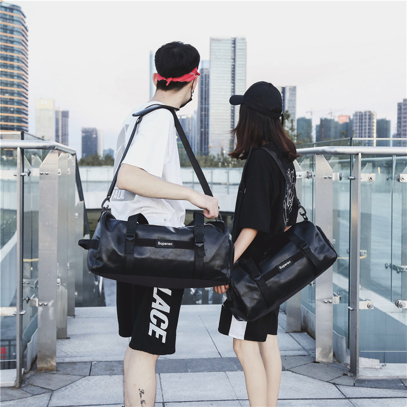New Casual Large Capacity Travel Bag Leisure Sports Training Gym Bag With Shoe Sport Portable Shoulder Bags Couple Yoga Bag