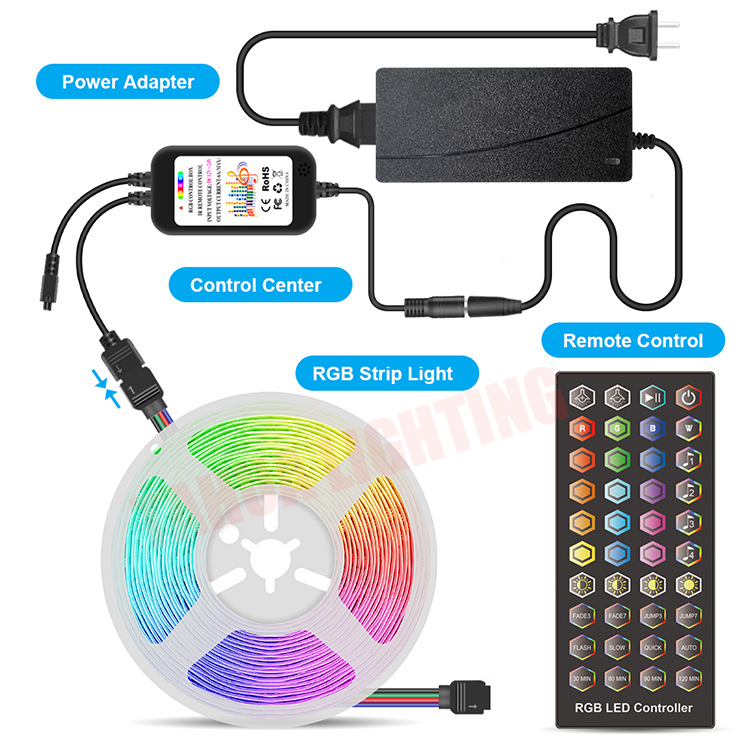 Adapter - MagicLight™ High-quality 20M RGB SMD Ultrabright 16 Color Flexible LED Light Strips with 12V Bluetooth Control Adapter