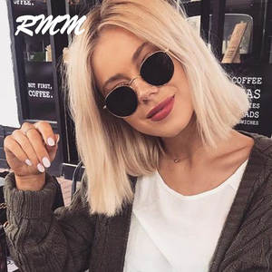 RMM 2020 Classic Small Frame Round Sunglasses Women/Men Brand Designer Alloy Mirror Sun Glasses Vintage eyeglass free shiping