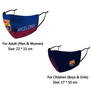 Face-Mask Protective Fc Barcelona Reusable for Messi 10 PM