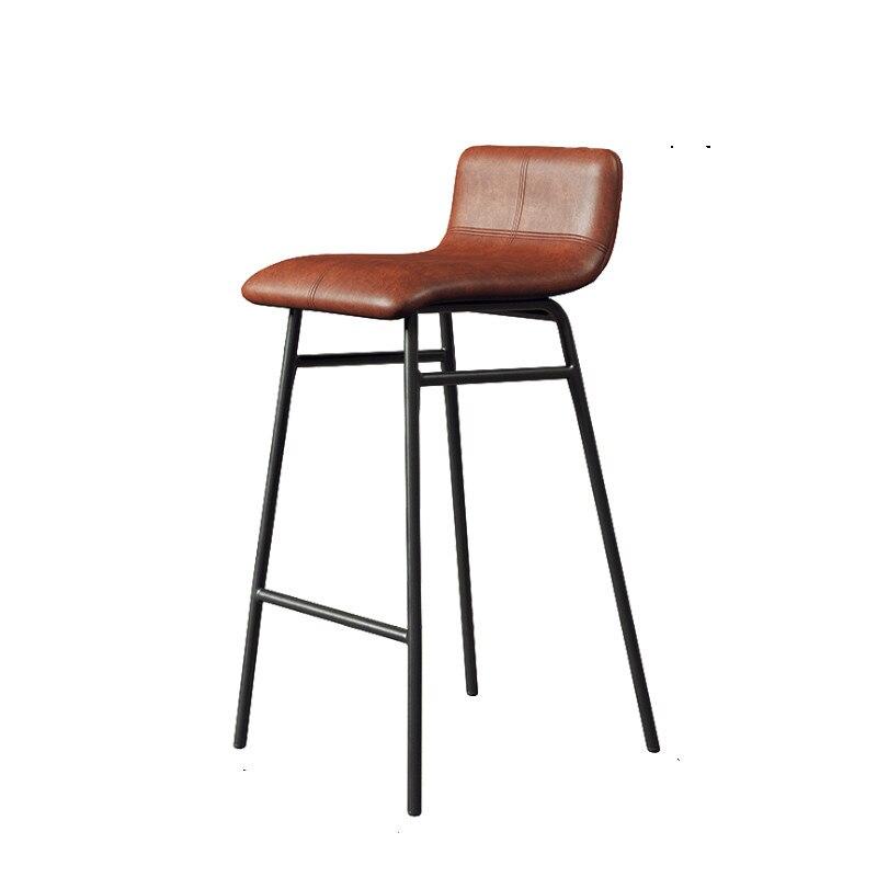 Nordic Iron Bar Chair Modern Simple High Stool Light Luxury Coffee Bar Chair High Chair