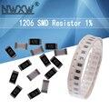 100 шт. 1206 SMD резистор 5% 0R ~ 10M 1/4 Вт, для детей 0, 1, 1 10 100 150 220 330 Ом K 2,2 K 100K 0R 10 1R 10R 100R 150R 220R 330R 470R 820R