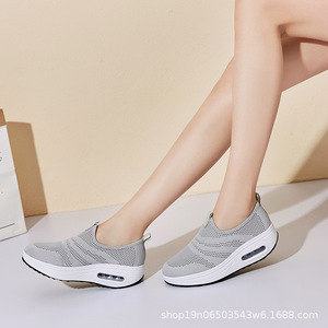 Image 3 - COWCOM Drop Sale  Spring Cushion Thick Bottom Flying Weaving Hollow Breathable  Leisure Sports WADDLE Shoes Female Hair CYL 2008