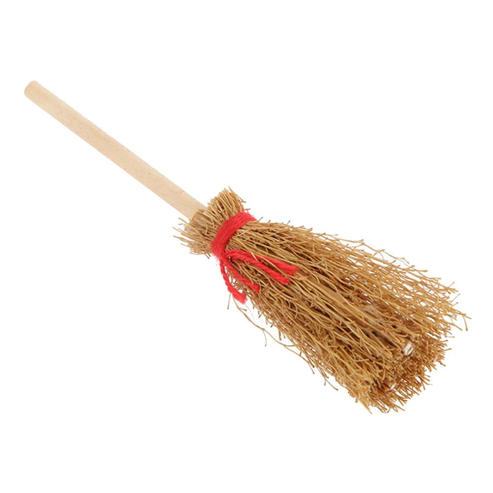 9cm Wooden Broom Witch Kitchen Garden Miniature Doll House Kids Girl Play Toy Decor Kids Funny Play House Miniature Broom Toys