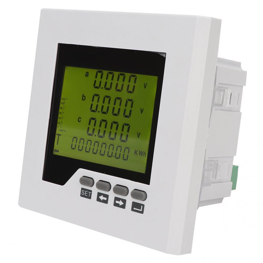 Medidor de Energia Original Profissional Power Meter 3-phase Multi-função Display Digital Testador Elétrica Ac220v Lcd