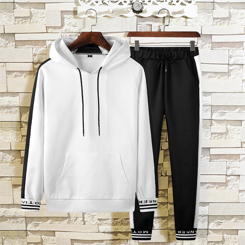Leisure Suit Men's 2018 Autumn New Style Hoodie Set Casual Sports Pants Long Sleeve Pullover Coat 8805