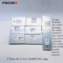 5.5» 6.3» 175um Mitsubishi Optique OCA Adhésif Transparent Film Autocollant Pour Samsung S7e S8 G950 S8 + G955 S9 G960 S9 + G965 Note8 9