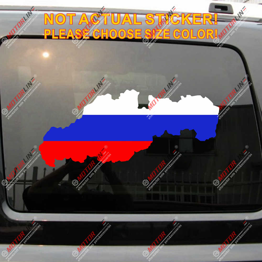슬로바키아 슬로바키아지도 플래그 데칼 스티커 슬로바키아어 자동차 비닐 선택 크기