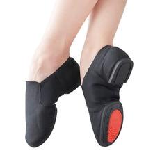 Chaussures de danse professionnelles chaudes pour les femmes toile Jazz baskets doux Ballet chaussures de danse chaussures de Jazz sans lacet baskets de danse
