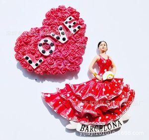 Магнит на холодильник Декор Паласио дель фламенко танцоры любят в Барселона Испания магнитные наклейки на холодильник сувенир для путешес...