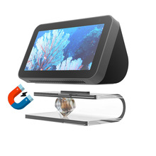 Audio Stand For Echo Show 8 Adjustable Transparent Stand Mount Accessories Fully Acrylic Anti Slip Base For Echo Show 5