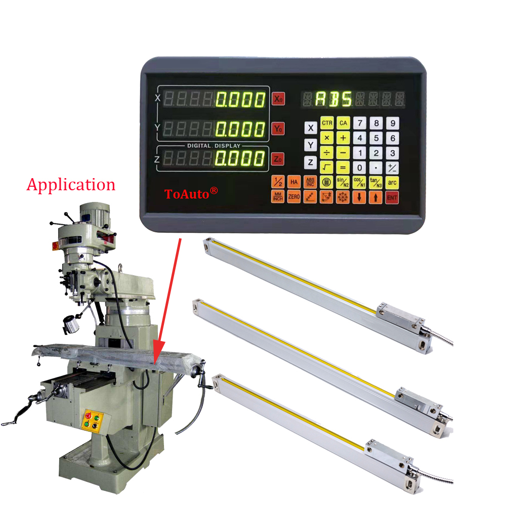 3 Axis DRO Digital Readout + Optional 3pcs 50-1000mm Linear Scale / Linear encoder / Linear ruler for CNC Milling lathe machine