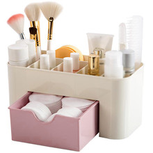 Plastic Makeup Organizers Box Large Capacity Jewelry Cosmetic Storage Box With Drawer Plastic Lipstick Holder Sundries Container