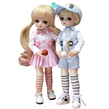 UCanaan 1/6 BJD Doll 18 Ball Jointed Dolls With Full Outfits Wig Clothes Set Shoes Makeup Toys For Girls Best Birthday Gifts